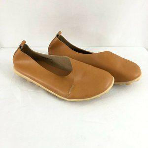 Kunsto Womens Leather Loafers Flats Slip On Basic
